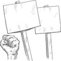 Riot clipart picket sign