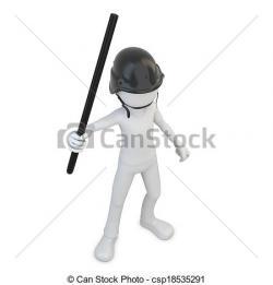 Riot clipart police baton