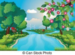 River Landscape clipart river scene