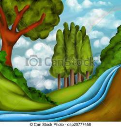 River Landscape clipart country landscape