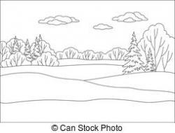 Dark Wood clipart forest scene