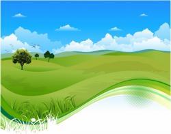 River Landscape clipart grass field