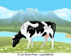 River Landscape clipart green field