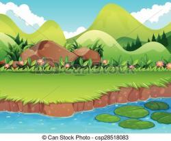 Sream clipart river bank