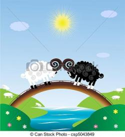 River Landscape clipart river bridge