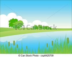 See clipart river side