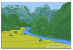 Valley clipart mountain range
