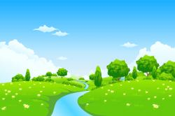Valley clipart background