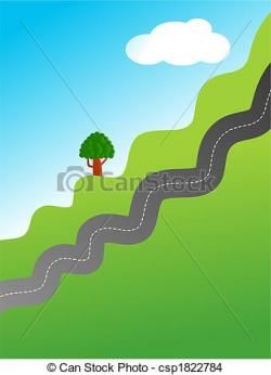 Countryside clipart hillside