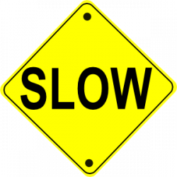 Slow clipart road work