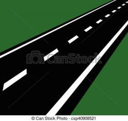 Drawn roadway journey road