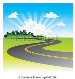 Drawn roadway road background