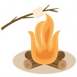 Bonfire clipart roasting marshmallow