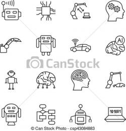 Robot clipart artificial intelligence