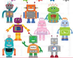 Robot clipart childrens toy