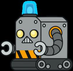Robot clipart comic