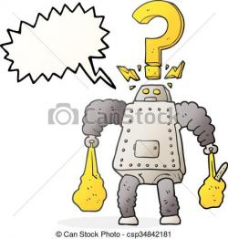 Robot clipart confused