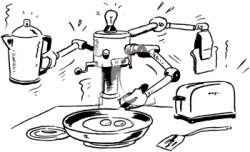 Robot clipart cook