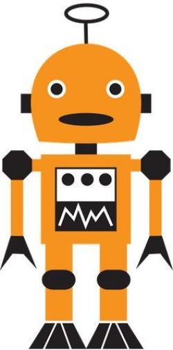 Robot clipart custom