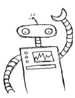 Robot clipart easy