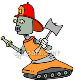 Robot clipart firefighter