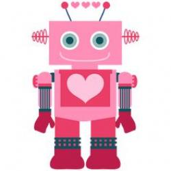 Robot clipart girly