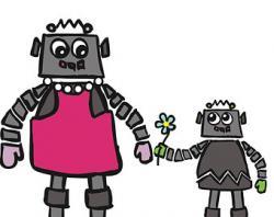 Robot clipart mom
