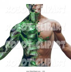 Robot clipart muscle