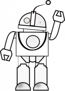 Robot clipart outline