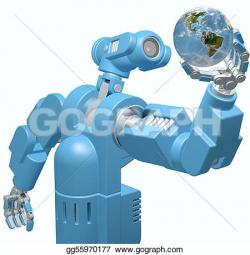 Robot clipart science technology