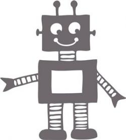 Robot clipart silhouette