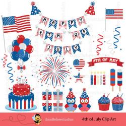 USA clipart 4th july