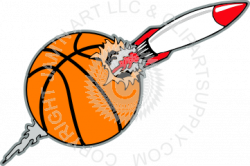 Rocket clipart basketball