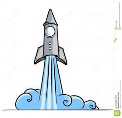 Missile clipart blast off