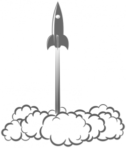 Rocket clipart blast off