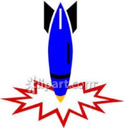 Rocket clipart crashed
