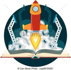 Rocket clipart science fiction