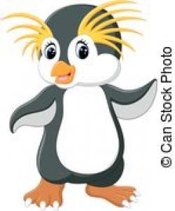 Rockhopper Penguin clipart northern