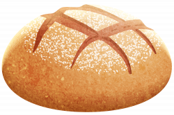 Bread Roll clipart silhouette