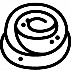 Cinnamon clipart black and white