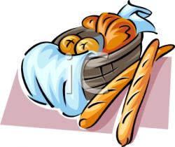 Croissant clipart basket