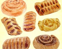 Danish clipart french pastry