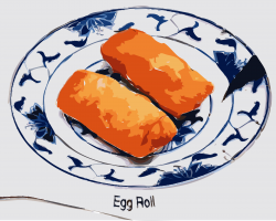 Chinese Food clipart egg rolls