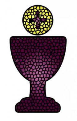 Stained Glass clipart bread and wine