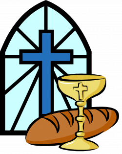 Wafer clipart communion bread and wine