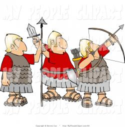 Roman Warriors clipart sword fighting