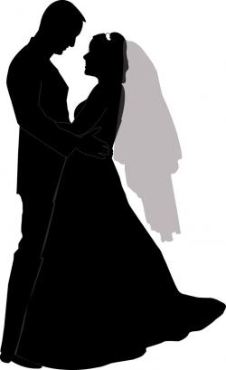 Bride clipart wedding kiss