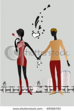 Romance clipart couple holding hand