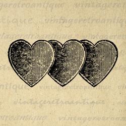 Romance clipart three heart