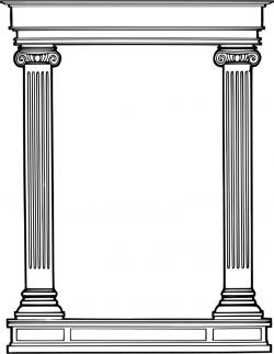 Columns clipart roman column